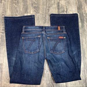 7 For All Mankind Dark Wash Dojo Jeans Size 26